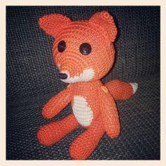 crochet fox Crochet Fox, Hello Kitty, Teddy Bear, Toys, Fictional Characters, Animals, Art, Activity Toys, Animales