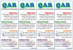 QAR-Question Answer Relationship bookmarks