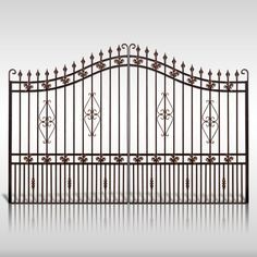 Buy The 'Cannock' Wrought Iron Estate Gate from The Iron Gate Shop UK, Unlike other gate companies we can offer 0% finance and free UK Mainland delivery on our products.