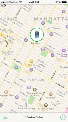 Use Find My iPhone to Find Your Missing iPhone: The Find My iPhone app in action