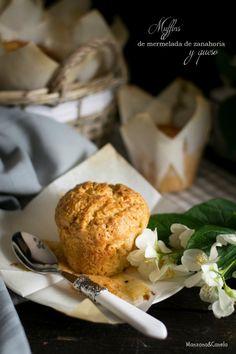 Muffins de mermelada de zanahoria y queso