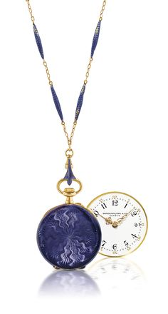 PATEK PHILIPPE YELLOW GOLD AND ENAMEL OPENFACE KEYLESS LEVER PENDANT WATCH | SIGNED PATEK PHILIPPE & CIE, GENEVE, MOVEMENT 163'620, CASE 267'798, MANUFACTURED IN 1911 | manual-winding, Watches | Christie's