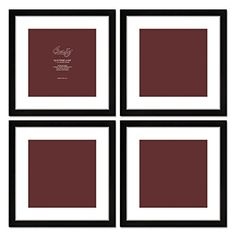 Craig Frames 1WB3BK 16 by 16Inch Black Picture Frame White Mat with 12 by 12Inch Opening 4Piece Set *** See this great product. (This is an affiliate link) #PictureFrames