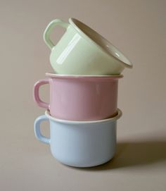 pastel Coffee cups