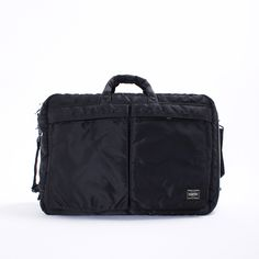 Porter Tanker 3-Way Bag - The ultimate everyday bag. Porter s Tanker 3-Way  Bag features an all-black nylon exterior with a highly contrasting rescue  orange ... 4e5cc8d0a3bae