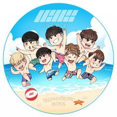 #iKON #1KONNIVERSARY #iKONIC #fanart Ikon Kpop, Kim Jinhwan, Chanwoo Ikon, Chibi Wallpaper, Ikon Wallpaper, Ikon News, Ikon Member, Winner Ikon