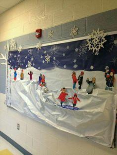 #Winter #Deko ganz individuell - schön fürs #Klassenzimmer