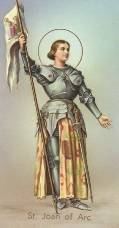 Catholic holy card, for Joan of Arc.