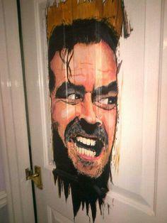 Here's JOHNNY!  Great door decoration.