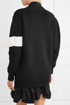 Chloé - Two-tone Wool Cardigan - Black - x large