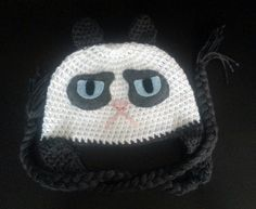 Grumpy Cat Beanie - I love the funny sayings people put with this cat, now that it is combined with a hat it's even better!