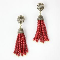 """Lilac or cream color only. """"Georgian Lace"""" Tassel Earring - Earrings – Shop Jewelry 