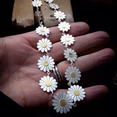 'Daisy, Daisy' Necklace, silver and 18ct gold by Diana Greenwood