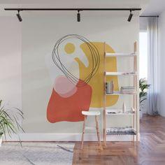 Modern minimal forms 53 Wall Mural by naturalcolors Mural Art, Wall Murals, Cheap Home Decor, Diy Home Decor, Decoration Crafts, Tableau Pop Art, Wall Decor, Room Decor, Bedroom Murals