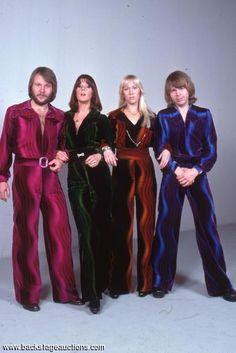 1002: ABBA 1976 Rare Studio Photo Session Lot of 30 Color Slides With Full Rights - Store - Backstage Auctions, Inc.