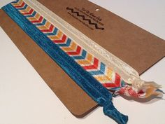 HEADBAND CHEVRON AZTEC TRibal Southwest Ivory  by TiedUpLooseEnds, $6.00