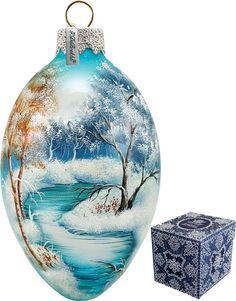 G Debrekht Winter Forest Egg Ornament | Wayfair