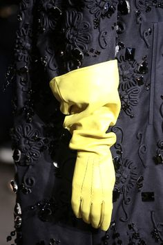 Frivolous Fabulous - Yellow Leather Gloves