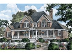 Floor Plans AFLFPW75909 - 2 Story Country Home with 4 Bedrooms, 3 Bathrooms and 3,139 total Square Feet