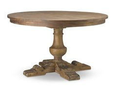 Balustrade Dining Table, Round, Vieux Bois