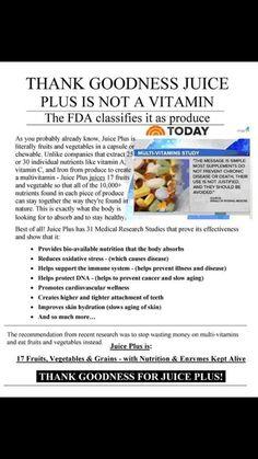 whole food based nutrition vs. vitamin supplement - http://barbarajones.juiceplus.com/