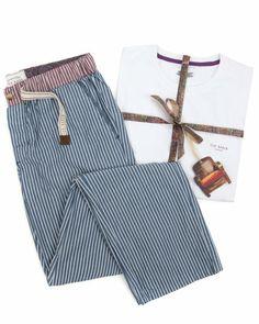 TIEBOR - Stripe lounge pyjama set | Men's | Ted Baker UK