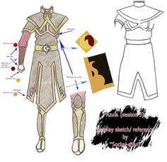 Azula season 3 outfit sketch by sockaichan.deviantart.com on @deviantART