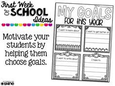 First Week Of School Ideas