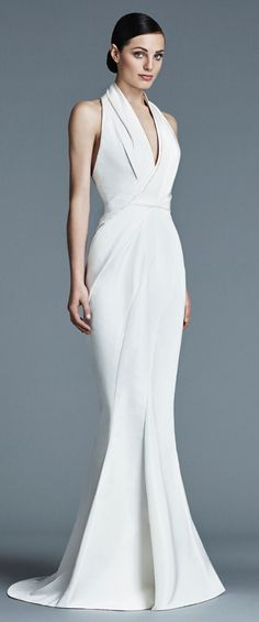 J. Mendel modern and chic bridal gown