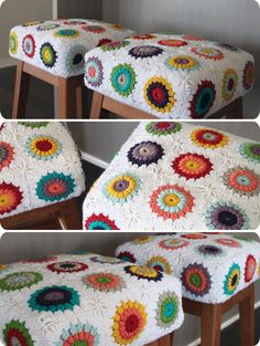 not this patter per se, but I like the idea to cover a chair/stool