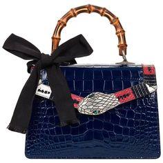 c8d1adcbe36c 2017 Gucci Blue Alligator Leather & Snakeskin Trim Small Lilith Top Handle  Bag $16,225.29 Crocodile Handbags. 1stdibs.com