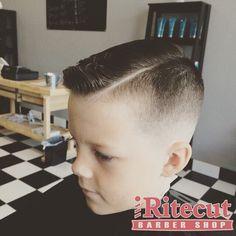 Ritecut Barber Shop - Murrieta, CA, United States. Boys Haircut w/ Hard Part