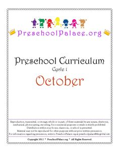Monthly free preschool curriculum. includes monthly themes, daily lesson plans, and accompanying printable worksheets