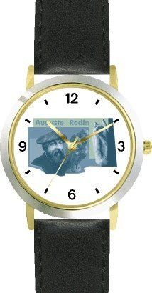 Auguste Rodin & The Thinker - WATCHBUDDY® DELUXE TWO-TONE THEME WATCH - Arabic Numbers - Black Leather Strap-Size-Children's Size-Small ( Boy's Size & Girl's Size ) WatchBuddy. $49.95. Save 38%!