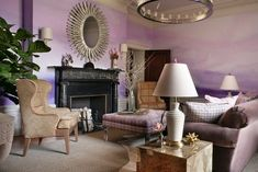 Wall-painting-ideas-design-watercolor-watercolor-effect-grey-pink-living-room-fireplace-furniture.jpg (600×401)