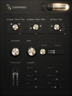 76 Synthesizer Concept on App Design Served
