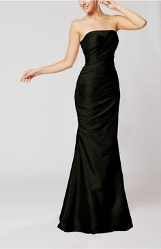 Black Bridal Gown - Elegant Church Mermaid Strapless Sleeveless Zipper Ruching