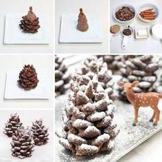 Creative Ideas - DIY Adorable Snowy Pinecone Snacks | iCreativeIdeas.com Follow Us on Facebook --> https://www.facebook.com/iCreativeIdeas