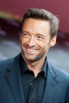 Hugh and his trademark smile-oooh nice!