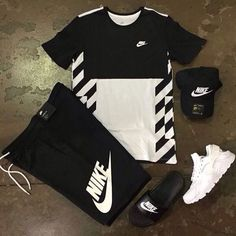 Behind The Scenes By hypedarchive Cute Nike Outfits, Dope Outfits For Guys, Swag Outfits Men, Stylish Mens Outfits, Cute Comfy Outfits, Sporty Outfits, Hype Clothing, Mens Clothing Styles, Streetwear Mode