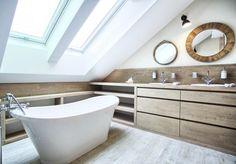 Image result for łazienka na poddaszu ze skosami