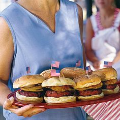 Recipe: Sweet-and-Savory Burgers   SouthernLiving.com   #4thofJuly