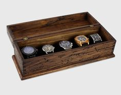 Watch Box, Watch Case, Men's Watch Box, Watch Box for Men, Wood Watch Box, Watch Display, Personalized Gift, Custom Watch Box for 5 watches