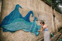 Crochet + Graffiti: I Cover Sao Paulo's Streets In Yarn | Bored Panda