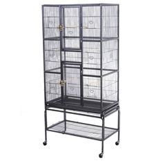 """New Bird Parrot Cage Chinchilla Cockatiel Conure Large W/Stand & Two Doors - Large Size W/ Two Doors 32""""(W) X 19""""(D) X 69""""(H) #large #stand #doors #conure #cockatiel #parrot #cage #chinchilla #bird"""