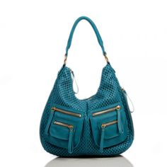 Leather Handbags-Dylan Perforated Shoulder Bag by Linea Pelle