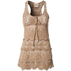 F.A.V Crochet Dress ($83) ❤ liked on Polyvore