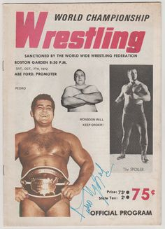 1972 World Championship Wrestling Boston by RubbersuitStudios #wrestling