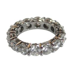 Diamond Platinum Common Prong Eternity Bands >>> Love to wear Eternity Bands on my thumb!!