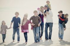 love this pic for a large family. And love her blog.